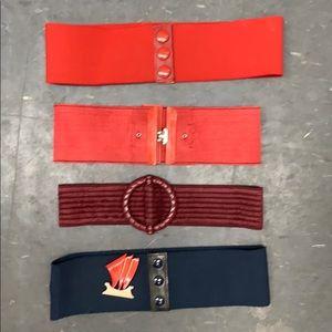 Set of 4 Vintage Belts